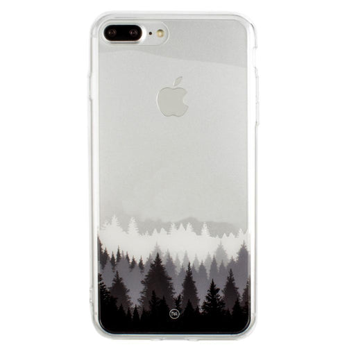 Apple Iphone 8 Plus - Ultra Clear Grayscale Forest Slim Case, Clear/Gray for Apple iPhone 7 Plus/iPhone 8 Plus