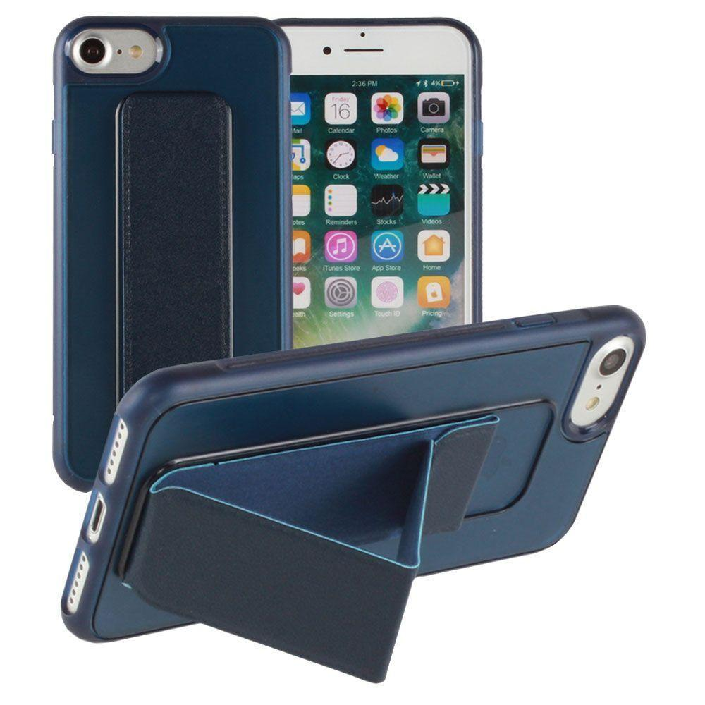 - Hard frosted slim case with built in kickstand, Navy Blue for Apple iPhone 7/iPhone 8
