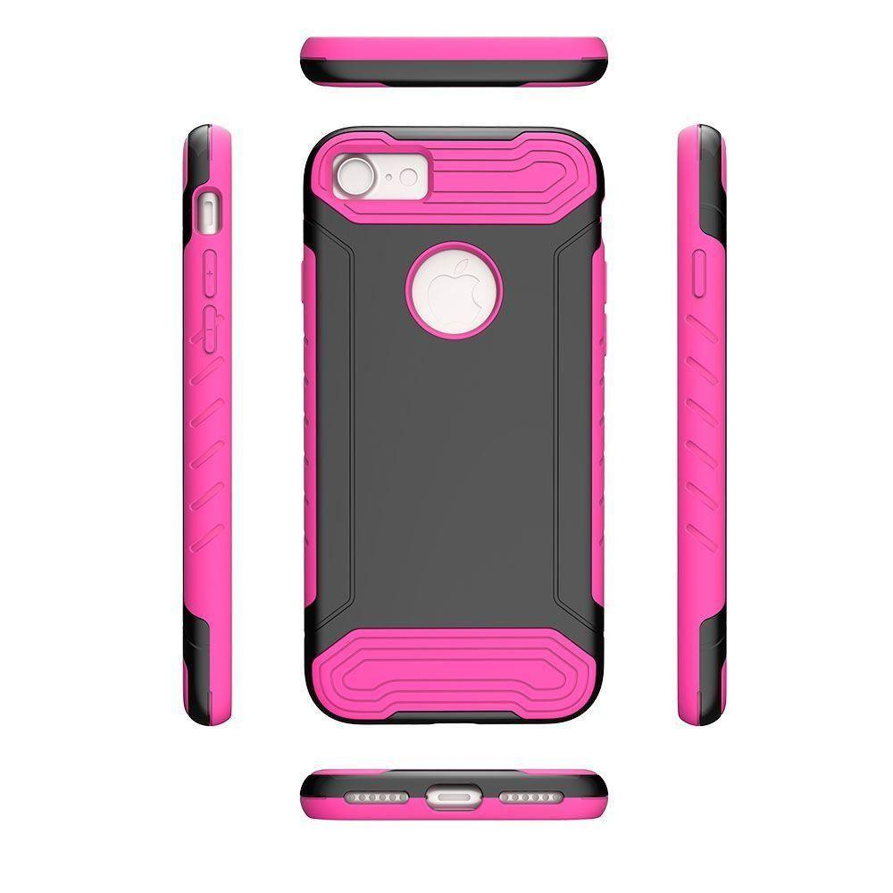- Quantum Dual Layer Rugged Case, Black/Hot Pink for Apple iPhone 7/iPhone 8