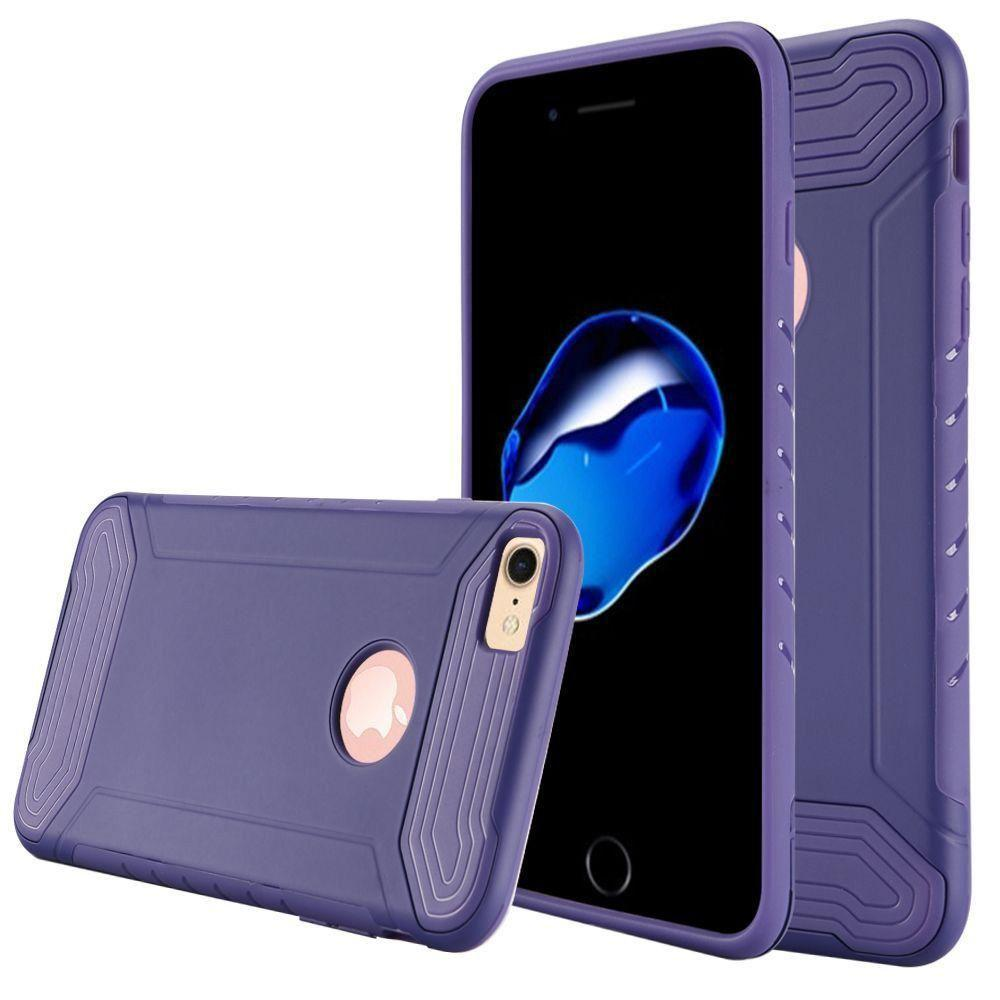 - Quantum Dual Layer Rugged Case, Purple for Apple iPhone 7/iPhone 8