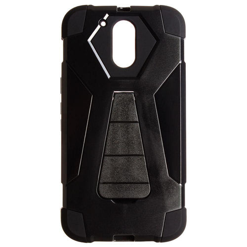 Motorola Moto G4 Plus - Mighty Dual Layer Rugged Case, Black