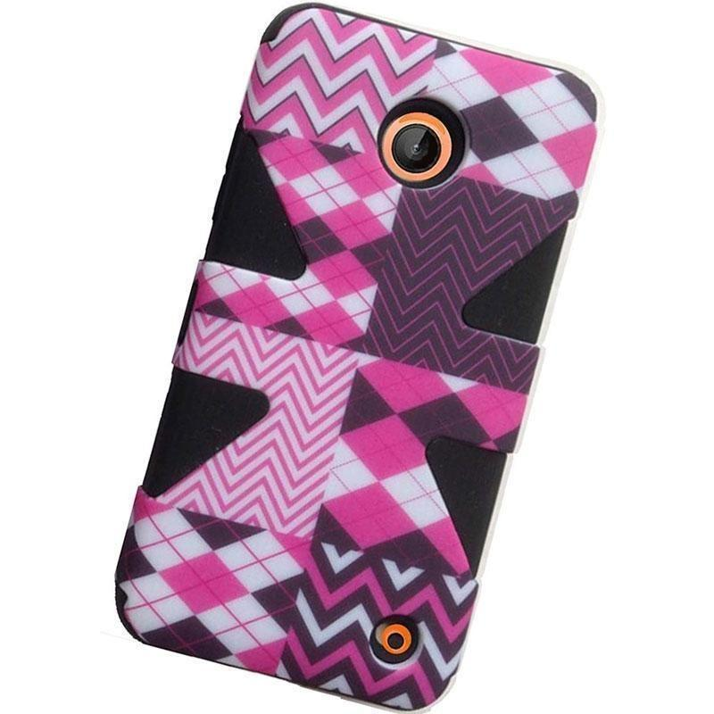- Triad Chevron Rugged Case, Pink/Black