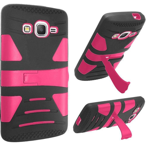 Samsung Galaxy Express Prime - V2 Armor Guard Rugged Case, Pink/Black