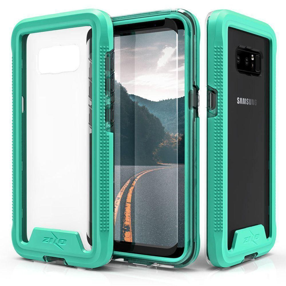 - Zizo ION Single Layered Hybrid Cover with Tempered Glass, Teal/Clear for Samsung Galaxy Note 8