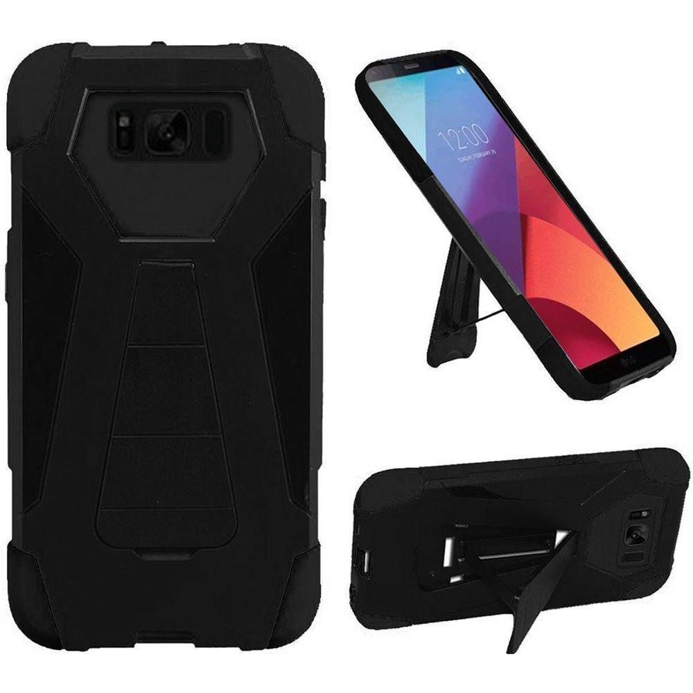 - Mighty Dual Layer Rugged Case with Kickstand, Black