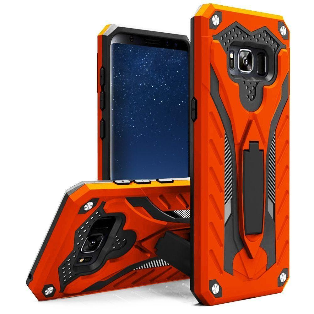 - Armor Shockproof Hybrid Case with Stand, Orange/Black for Galaxy S8 Plus