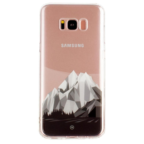 Samsung Galaxy S8 Plus - Ultra Clear Grayscale Glacier Slim Case, Clear/Gray for Galaxy S8 Plus