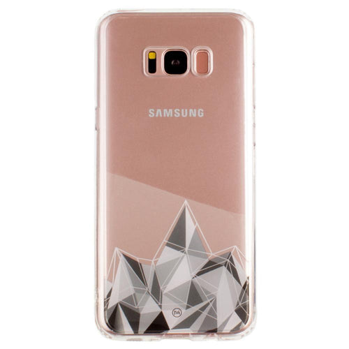 Samsung Galaxy S8 Plus - Ultra Clear Grayscale Crystal Slim Case, Clear/Gray for Galaxy S8 Plus