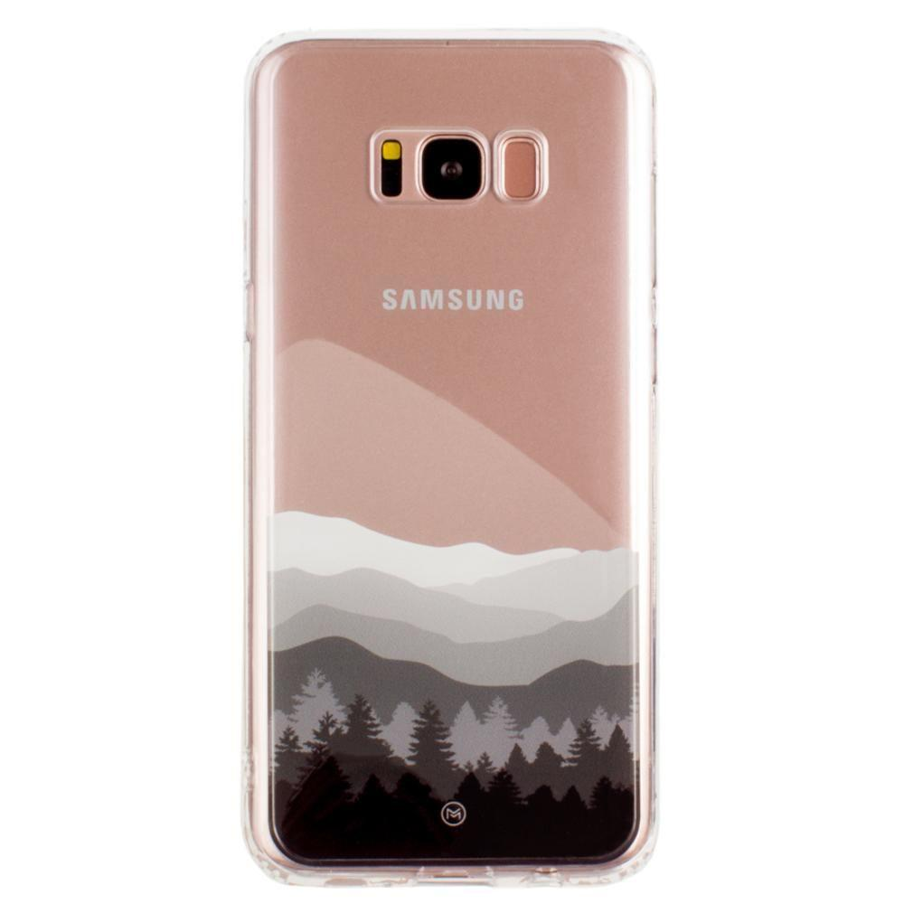 new arrival 523ce 56dc2 Samsung Galaxy S8 Plus Ultra Clear Grayscale Mountains Slim Case, Clear/Gray
