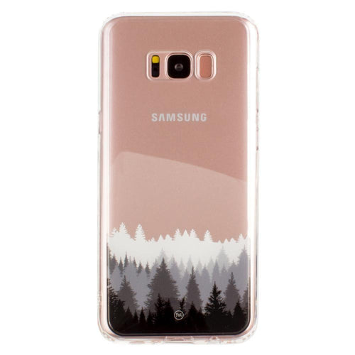 Samsung Galaxy S8 Plus - Ultra Clear Grayscale Forest Slim Case, Clear/Gray for Galaxy S8 Plus