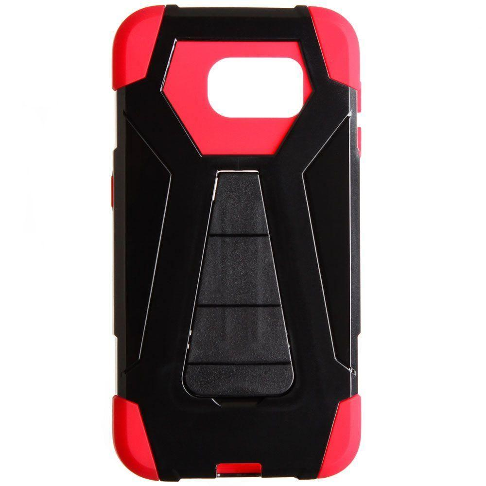 - Mighty Dual Layer Rugged Case, Black/Red for Galaxy S6