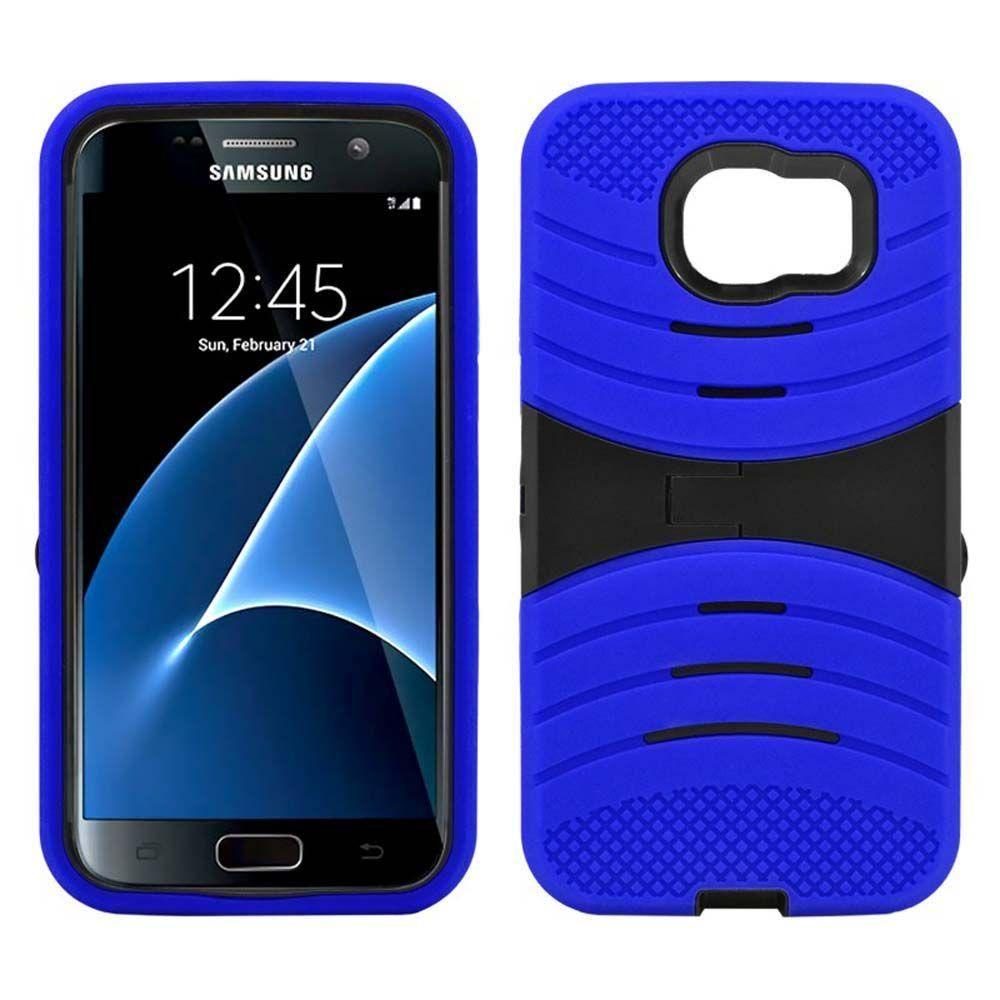 - Armor Guard Rugged Case with Kickstand, Blue/Black for Samsung Galaxy S7