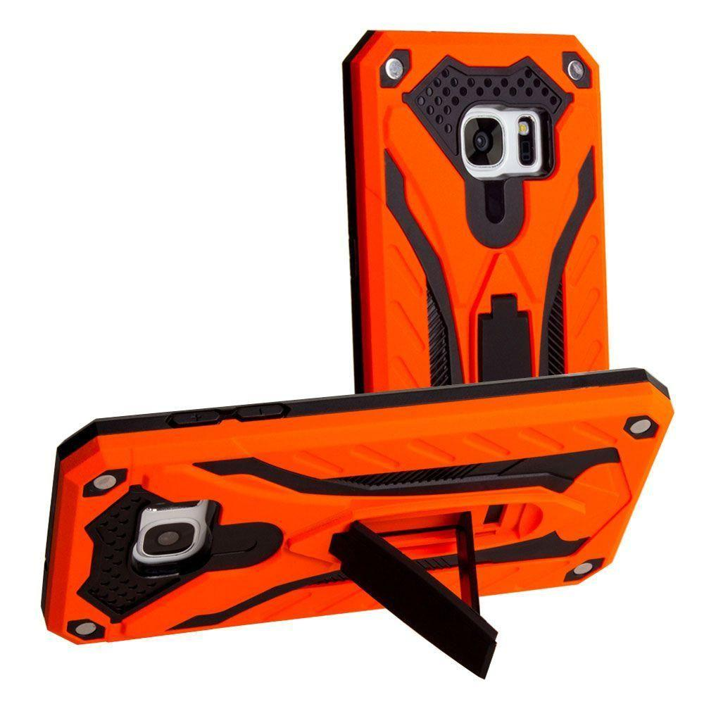 - Armor Shockproof Hybrid Case with Stand, Orange/Black