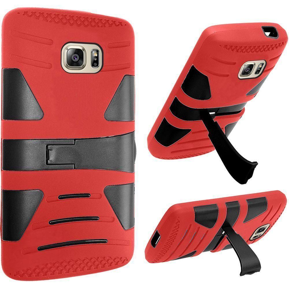 - V2 Armor Guard Rugged Case, Red/Black for Samsung Galaxy S7