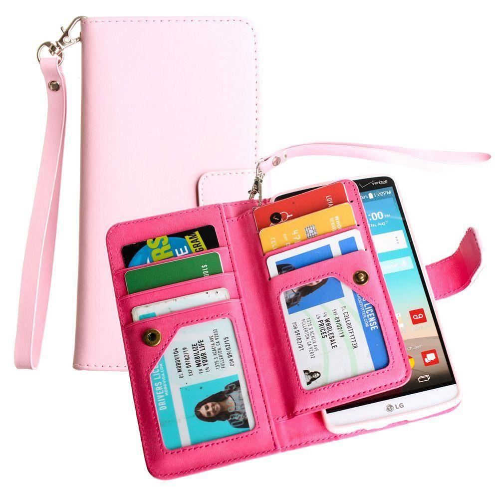 - Limited Edition Multi-Card Wallet Case with Wristlet, Summer Melon