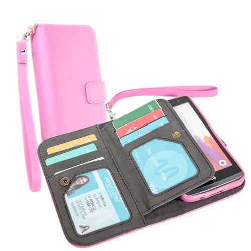 Samsung Galaxy Core Prime - Limited Edition Multi-Card Wallet Case with Wristlet, Pink