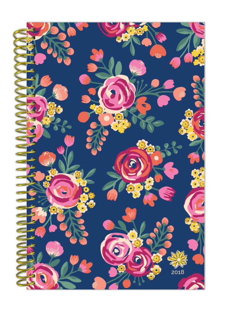 - 2018 Vintage Floral Fashion Daily Planner, Multi-Color