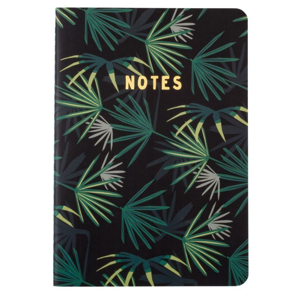- Botanical Collection, Palm Tree Fashion Notebook, Multi-Color