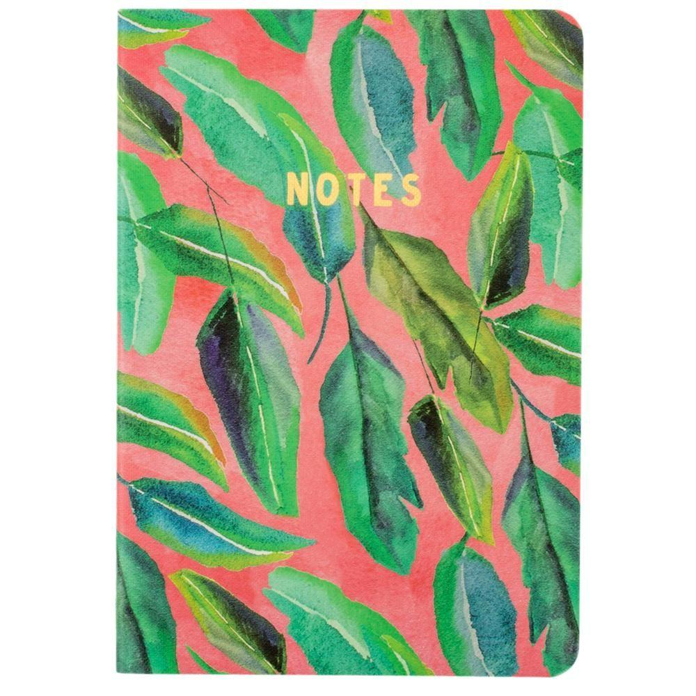 - Botanical Collection, Multi-Leaf Fashion Notebook, Multi-Color