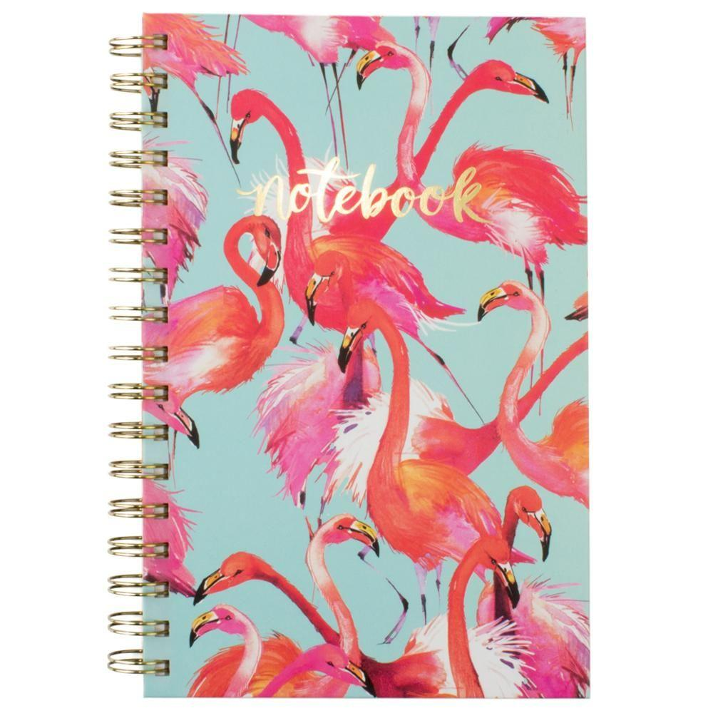 - Flomboyance of Flamingos Spiral Fashion Notebook, Multi-Color