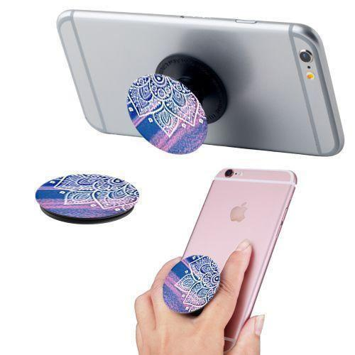Apple Iphone 4 - Henna Design Expandable Phone Grip and Stand, Multi-Color