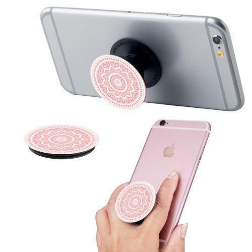 Midnight Z768g - Pattern Swirl Expandable Phone Grip and Stand, Pink