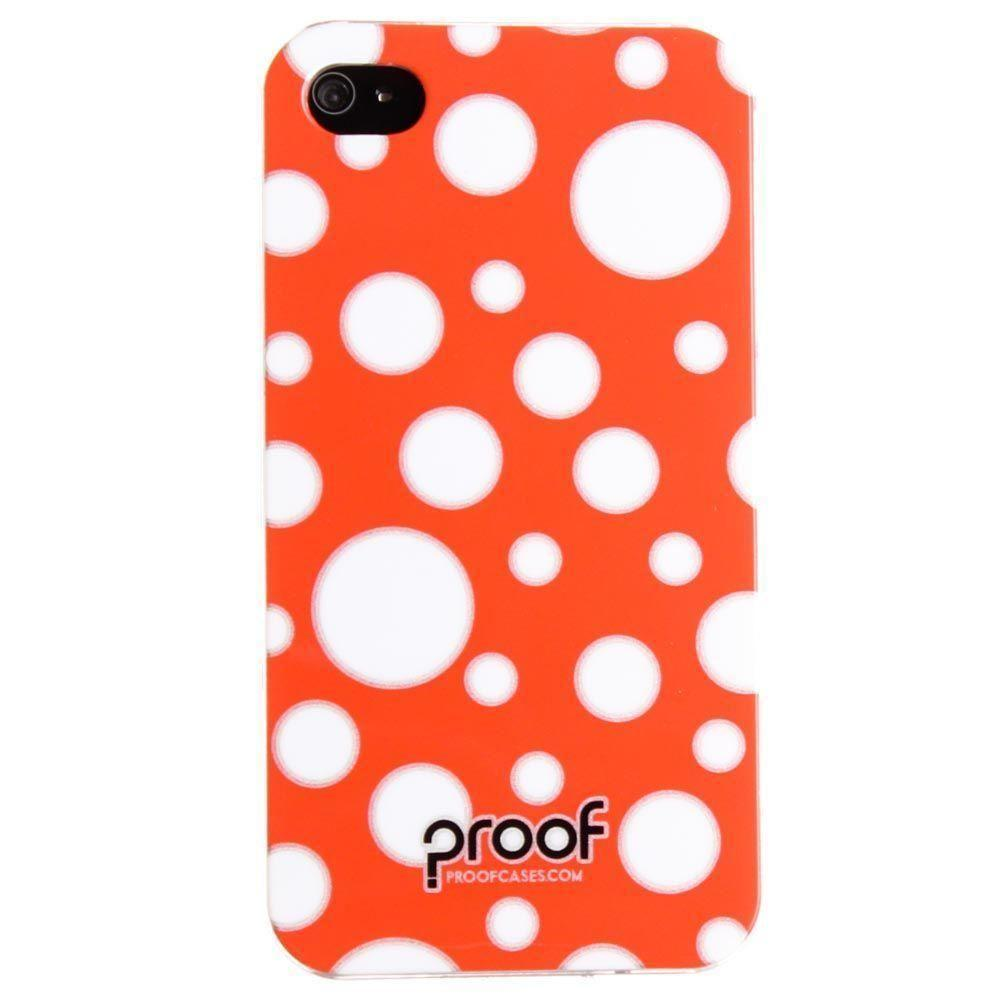 - Proof ''Bubbles'' Case, Red/White for Apple iPhone 4/iPhone 4s