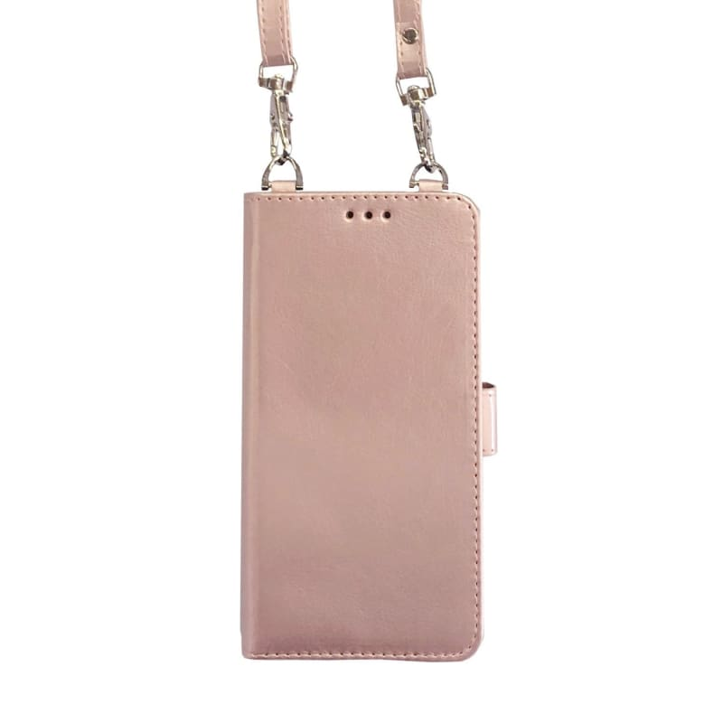 new concept b9f32 e2766 Samsung Galaxy S9 Bandolier Style Multicard Crossbody Wallet Case, Rose Gold