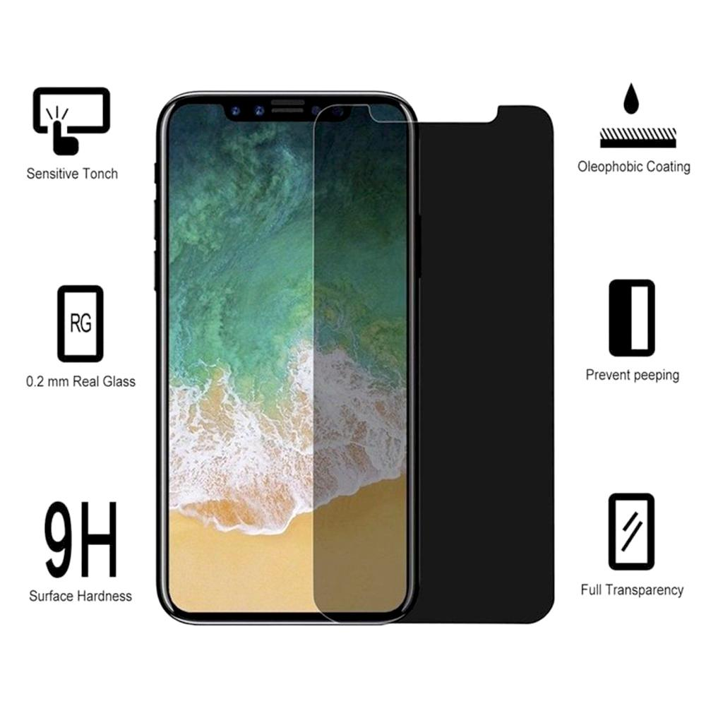 - Privacy Tempered Glass Screen Protector, Smoke for Apple iPhone X