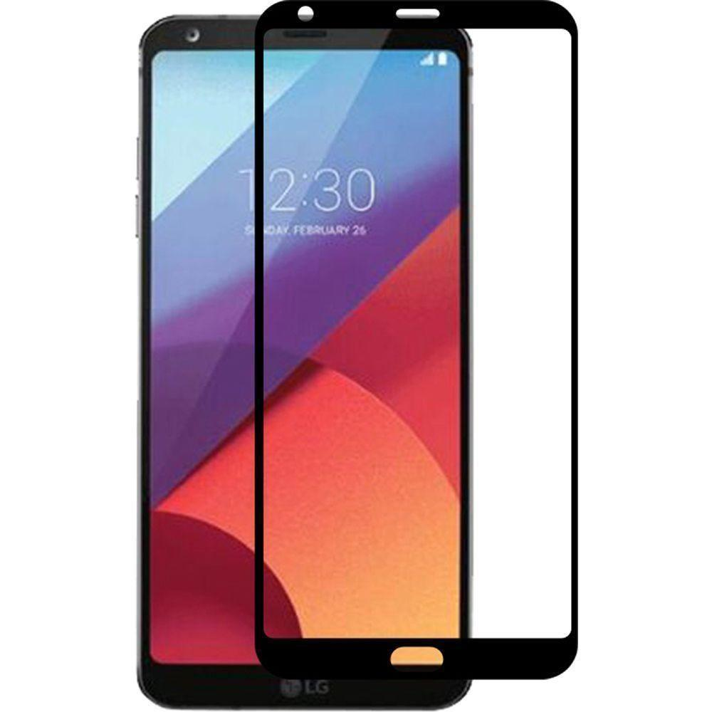 - Full Edge Colored Tempered Glass Screen, Black