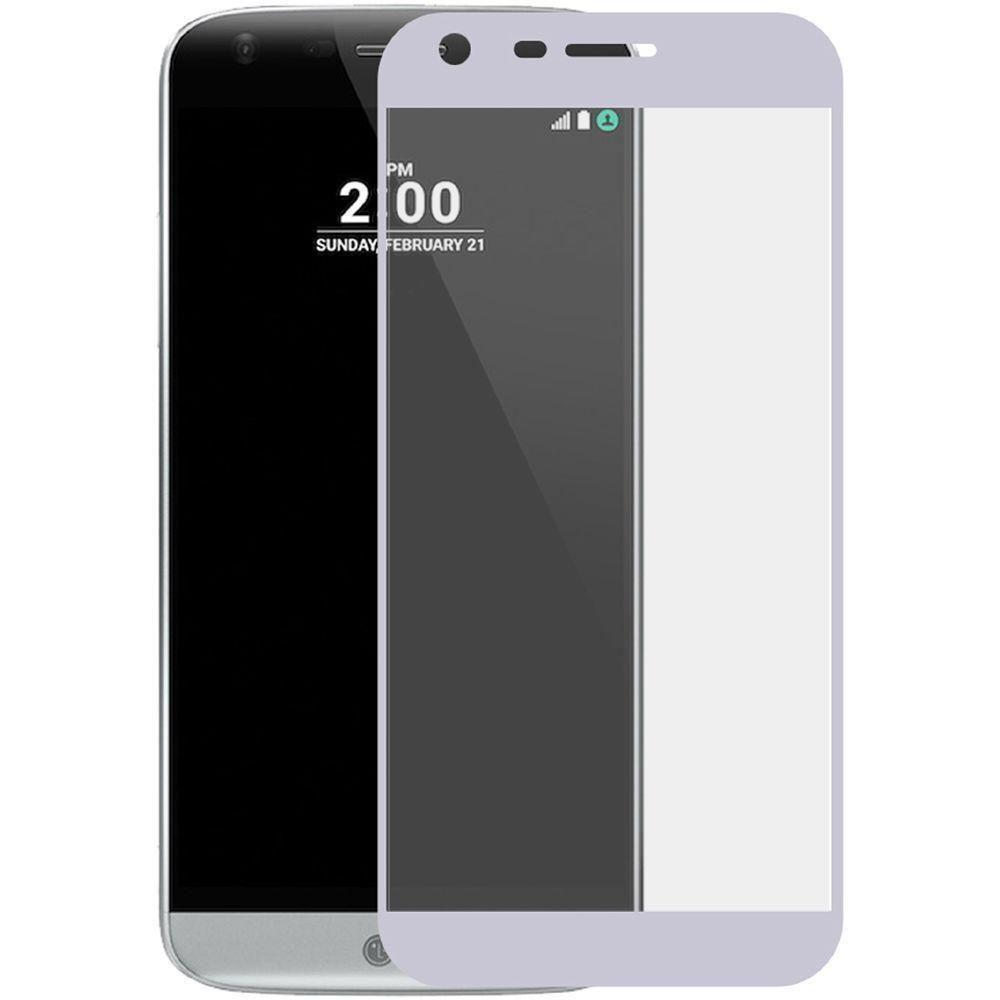 - Full Edge Colored Tempered Glass Screen, Silver