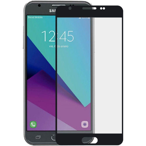 Samsung Galaxy Sol 2 - Full Edge Colored Tempered Glass Screen Protector, Black