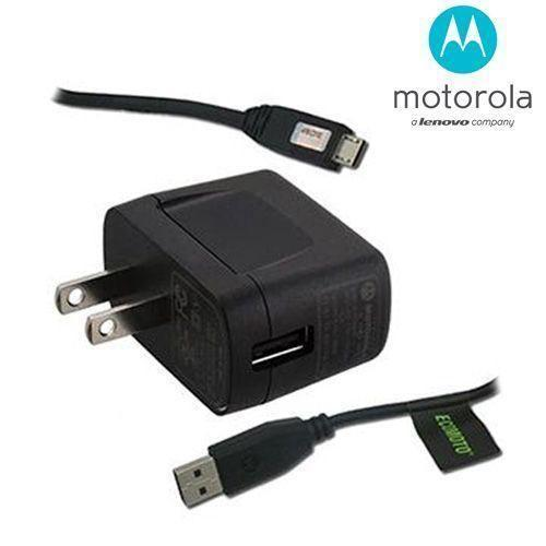 Motorola Droid Razr Maxx - Original Motorola OEM Universal Micro USB Wall Charger and Cable (SPN5504, SKN5004), Black