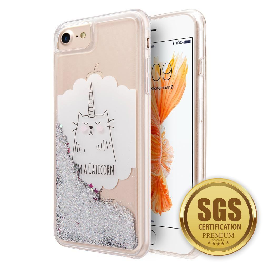 - I'm a Caticorn Printed Liquid Waterfall Quicksand Case, Multi-Color for Apple iPhone 6/iPhone 6s/iPhone 7/iPhone 8