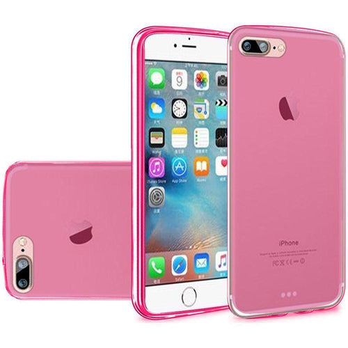 Apple Iphone 8 Plus - TPU Case, Hot Pink for Apple iPhone 7 Plus/iPhone 8 Plus