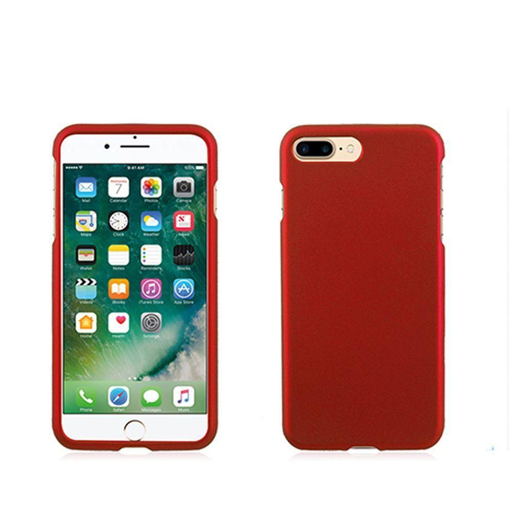 - Colorful Rubber Snap-on Case with Metal Bumper, Red for Apple iPhone 7 Plus/iPhone 8 Plus
