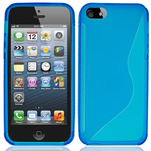 Apple Iphone 5 - S-Shape TPU Case, Light Blue for Apple iPhone 5/iPhone 5s/iPhone SE