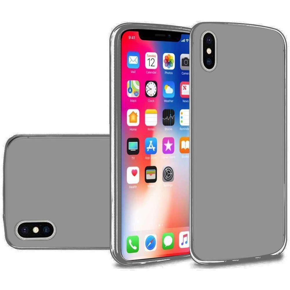 - Frosted TPU Case, Smoke for Apple iPhone X