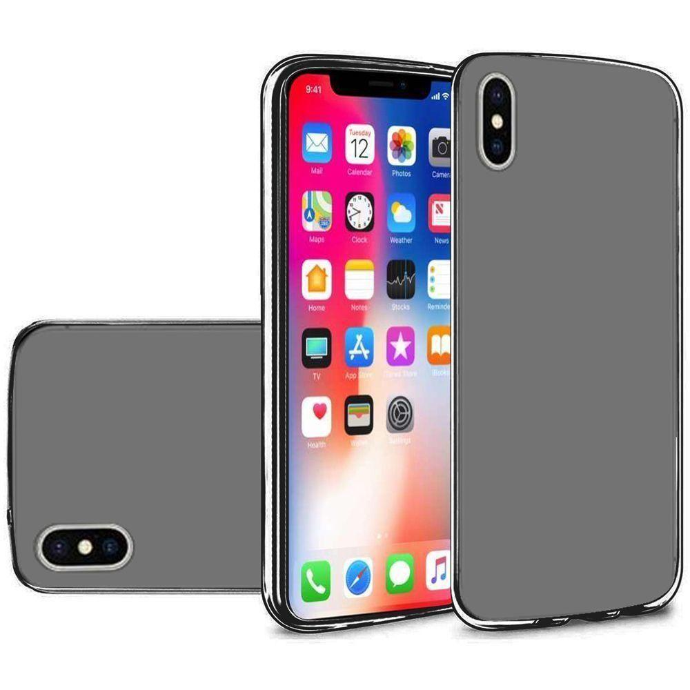 - Frosted TPU Case, Black for Apple iPhone X