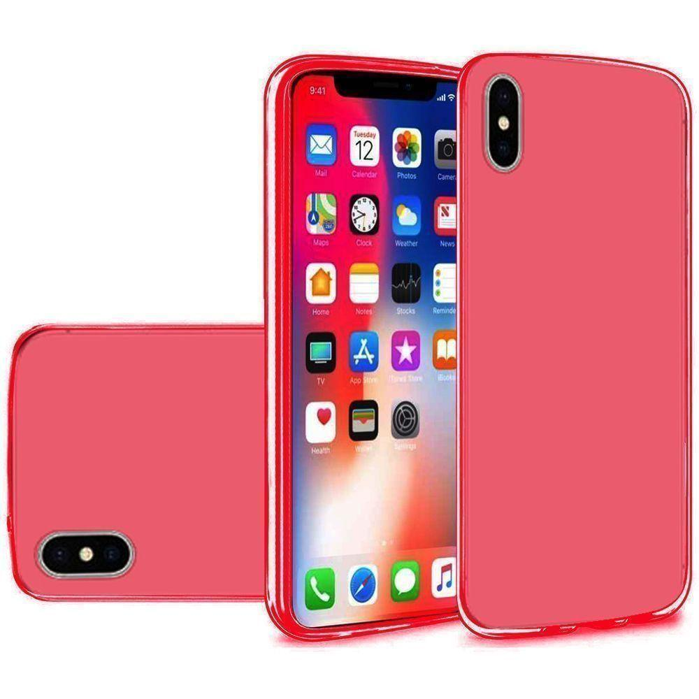- Frosted TPU Case, Red for Apple iPhone X