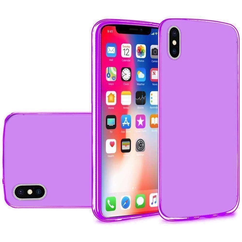 - Frosted TPU Case, Purple for Apple iPhone X