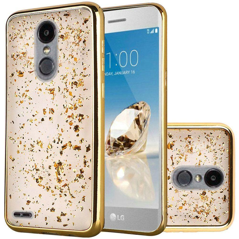 - Slim Fashion Sparkling Flake TPU Case, Gold