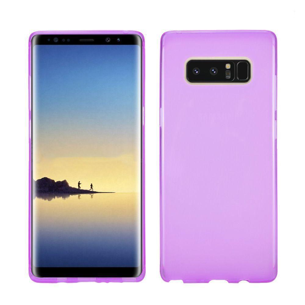 - Frosted TPU Case, Purple for Samsung Galaxy Note 8