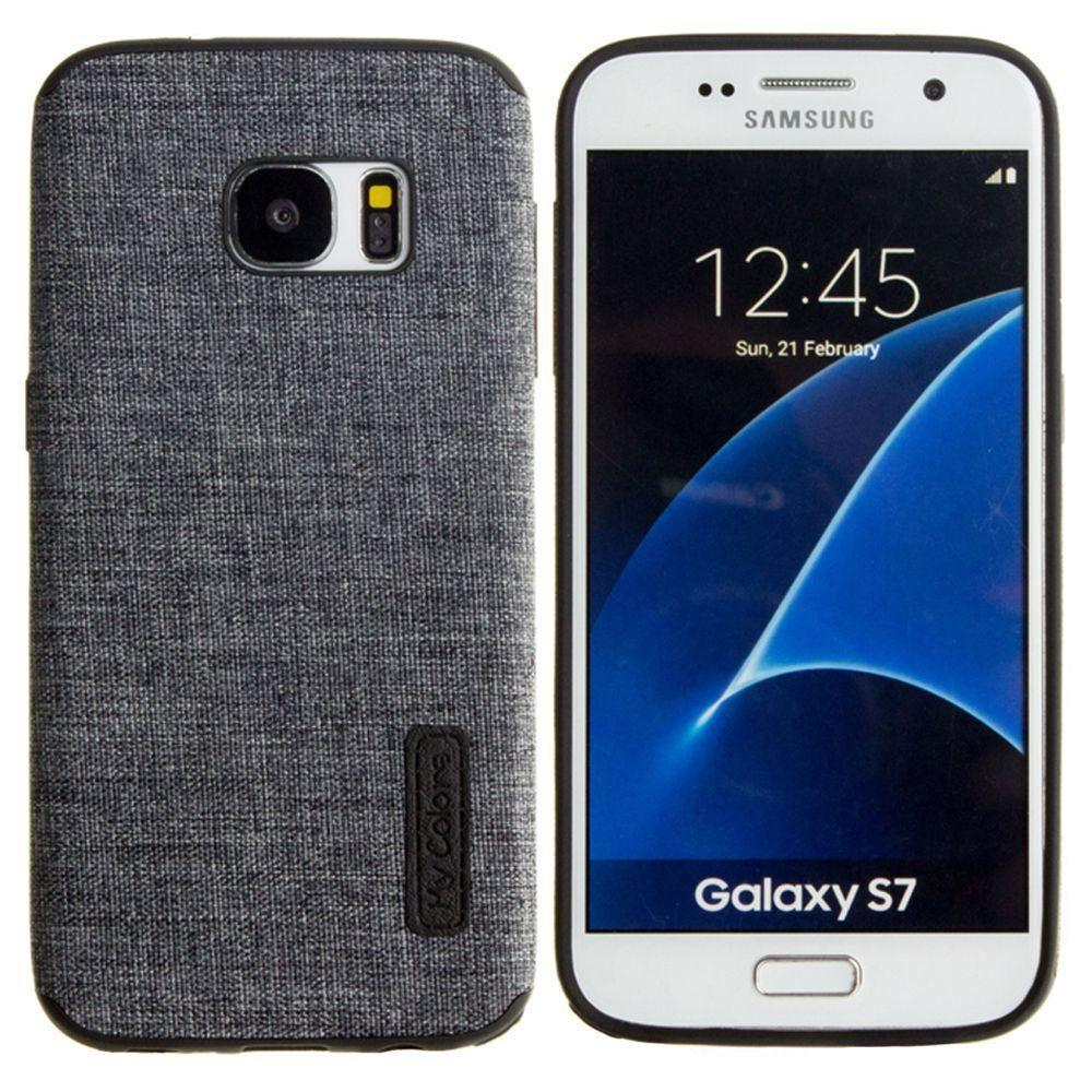 - Ultra Slim Fabric design case, Black for Samsung Galaxy S7