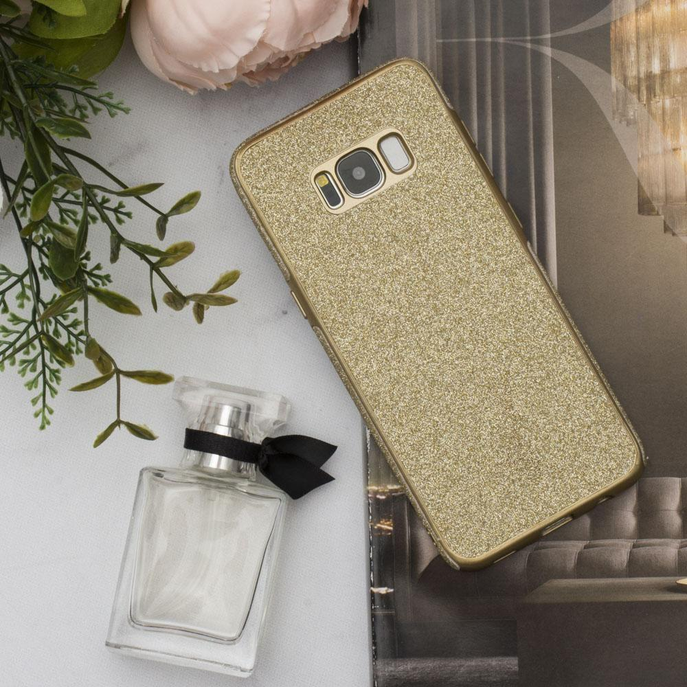 - Full Glitter TPU Case, Gold for Samsung Galaxy S8