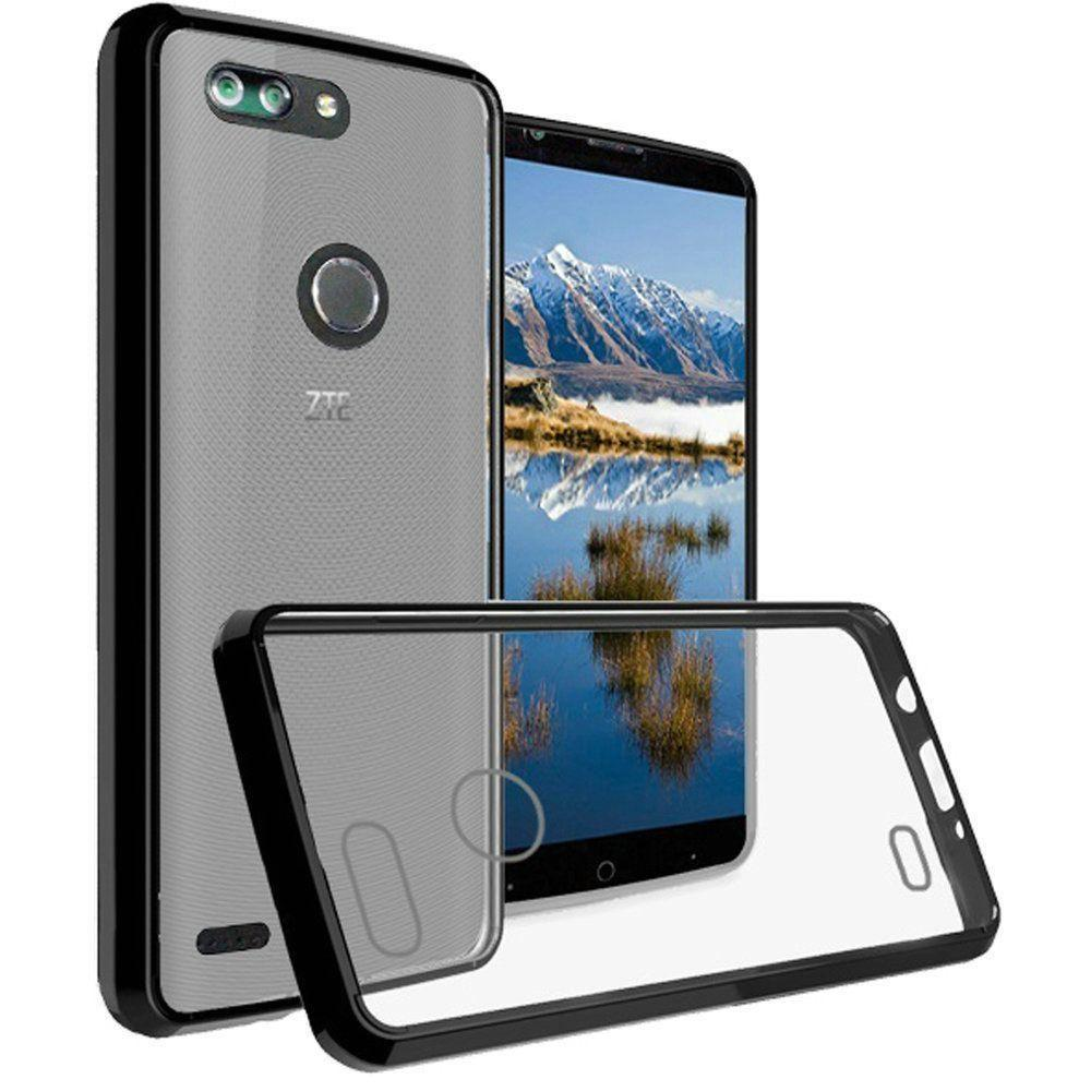 - Slim Bumper Transparent TPU Case, Black/Clear