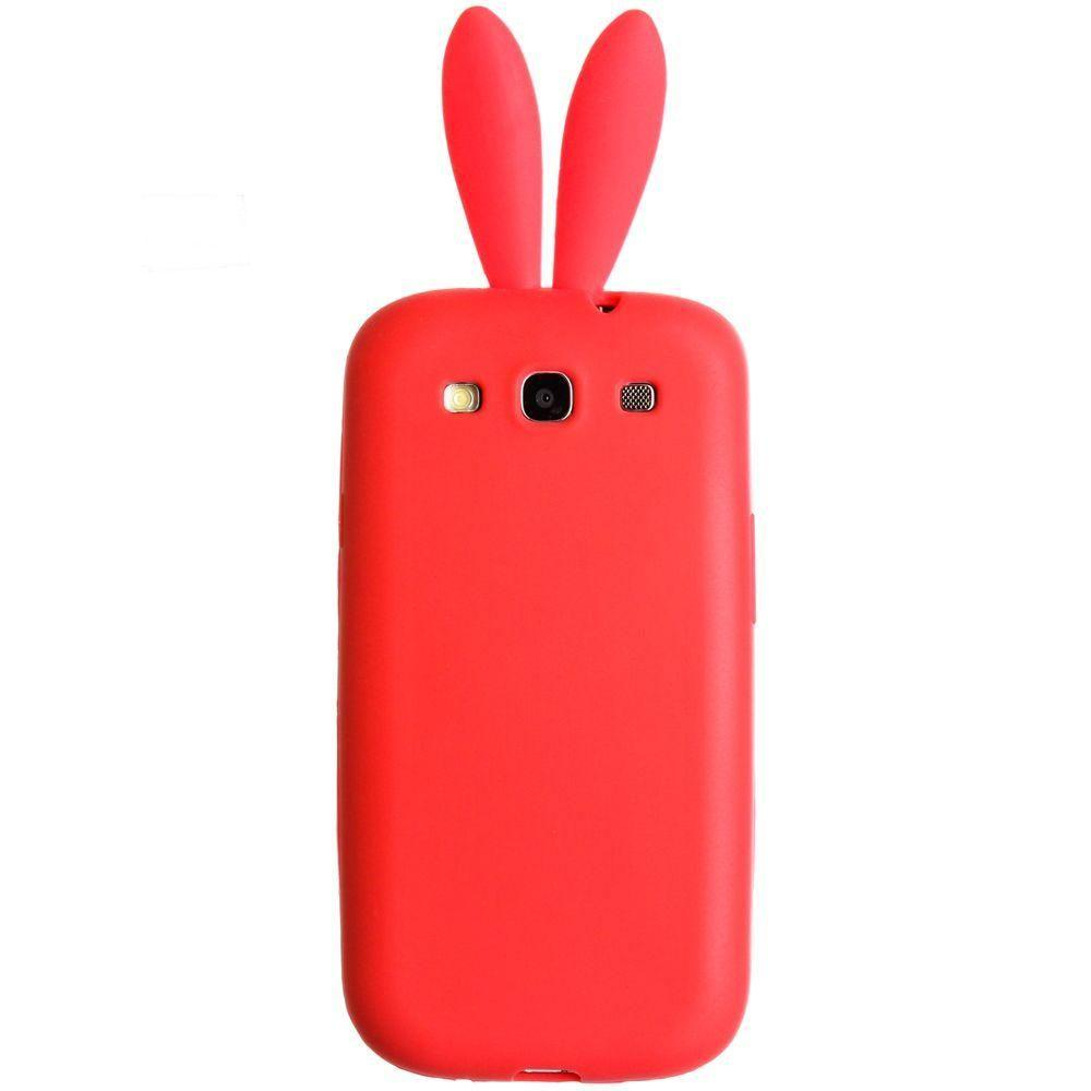 - Bunny ear TPU Case, Red