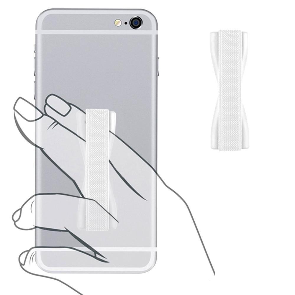 - Slim Elastic Phone Grip Sticky Attachment, White