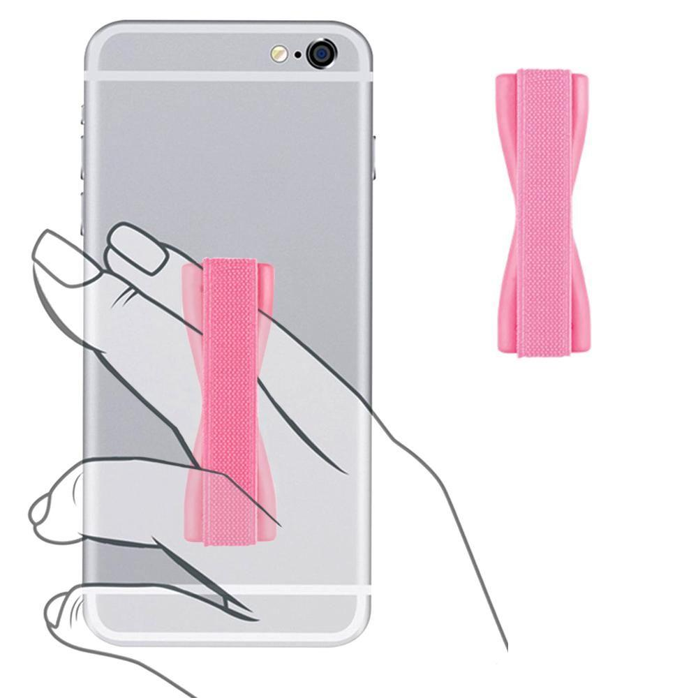Lumia 620 - Slim Elastic Phone Grip Sticky Attachment, Pink