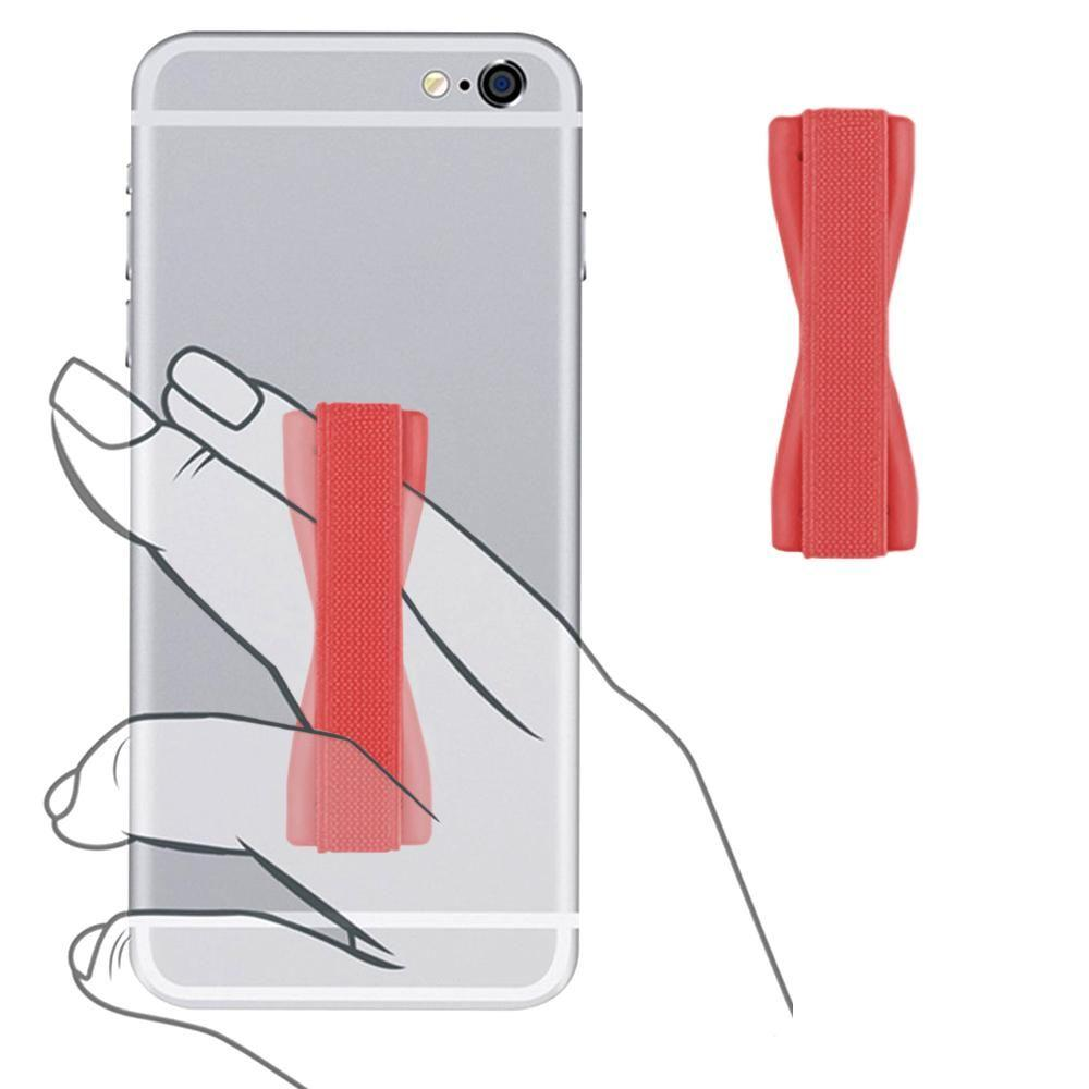 - Slim Elastic Phone Grip Sticky Attachment, Red
